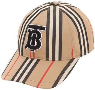Burberry Icon Striped Cotton Baseball Hat