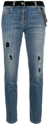Moschino distressed cropped jeans