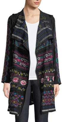 Johnny Was Gyrot Patchwork Embroidered Wrap