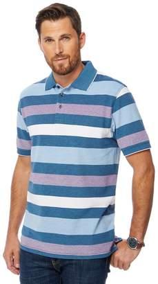 Maine New England MAINE Big And Tall Multi-Coloured Striped Polo Shirt