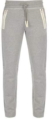 Moncler Cotton Track Pants - Mens - Grey