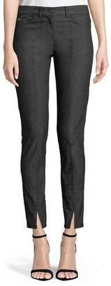 St. John Bardot Slim-Fit Front-Slit Jeans