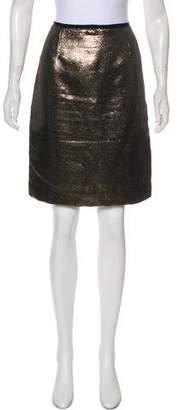 Tory Burch Metallic Mini Skirt