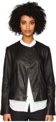 Vince Leather Cross Front Jacket Women's Coat