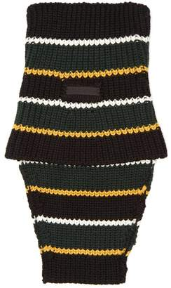 Prada Striped wool snood