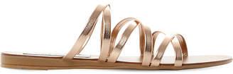 Steve Madden Rory cross strap metallic leather sandals