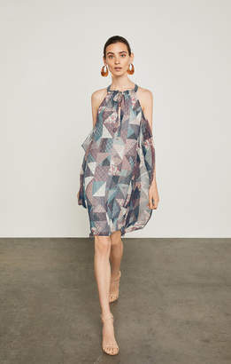 BCBGMAXAZRIA Pottery Patchwork Handkerchief Dress