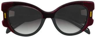 Prada velvet oversized sunglasses
