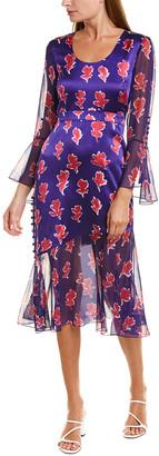 Prabal Gurung Queen Rania Silk Midi Dress