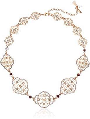 """lonna & lilly Moonlight Women's Crystal 16"""" Frontal Necklace"""