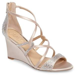 Badgley Mischka Ally II Embellished Wedge Sandal