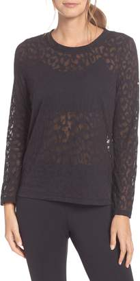 Kate Spade leopard print burnout top