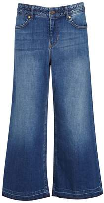 Donna Ida DONNA IDA Pimp My Margot Cropped Wide-leg Jeans