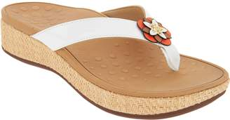 Vionic Embellished Leather Thong Sandals - Mimi