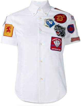 DSQUARED2 badge patch shirt