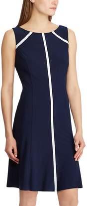 Chaps Women's Contrast Trim Fit & Flare Dress
