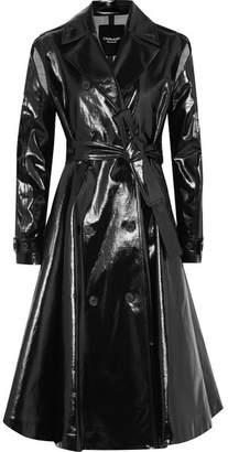 CALVIN KLEIN 205W39NYC - Coated Cotton-blend Canvas Trench Coat - Black