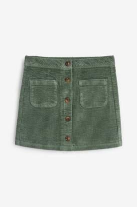 Next Girls Khaki Cord Skirt (3-16yrs) - Green