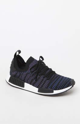 adidas Women's Black Multi NMD_R1 STLT Primeknit Sneakers