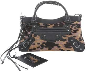 Balenciaga City pony-style calfskin handbag