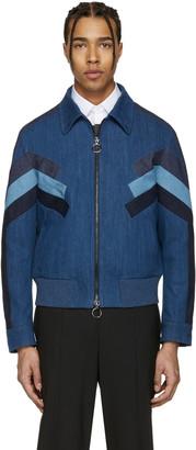 Neil Barrett Indigo Denim Modernist Jacket $1,585 thestylecure.com