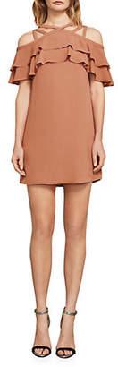 BCBGMAXAZRIA Chelsey Crisscross Ruffle Dress