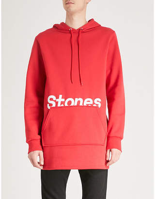 THE ROLLING STONES Logo-print cotton-blend hoody