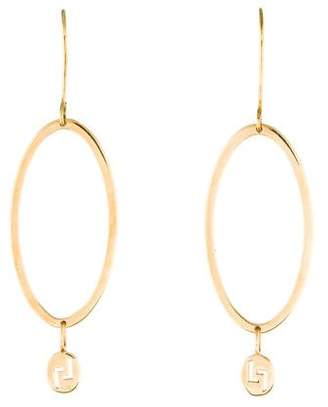 Lana 14K Oval Drop Earrings