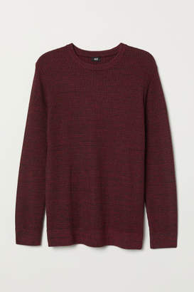 H&M Textured-knit Sweater - Red