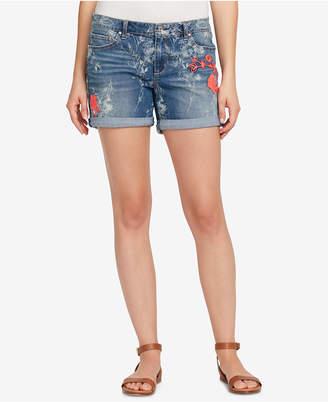 Vintage America Bestie Printed Denim Shorts