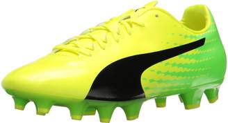 Puma Men's Evospeed 17.4 FG Soccer Shoe, Safety Yellow Black-Green Gecko