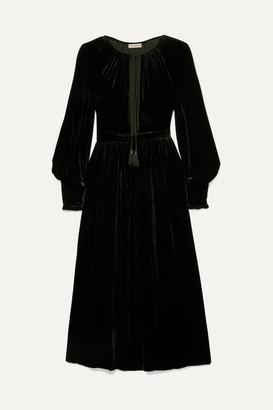 Ulla Johnson Talitha Tie-neck Velvet Midi Dress - Black