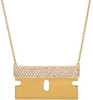 Established Diamond Razor Blade Necklace