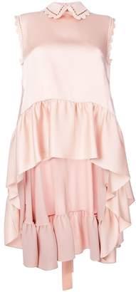 Fendi asymmetric ruffle blouse