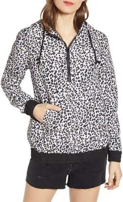 Vigoss Leopard Print Quarter Zip Water Resistant Rain Coat