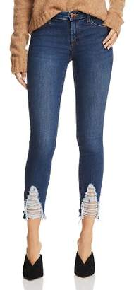 J Brand 811 Mid Rise Skinny Jeans in Midnight Moon