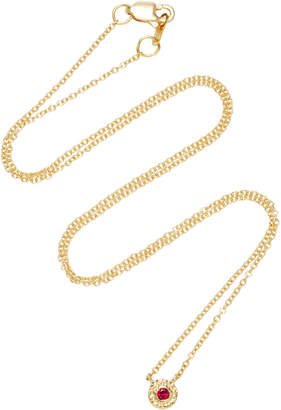 Octavia Elizabeth 18K Gold Ruby Necklace
