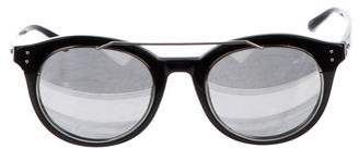 Linda Farrow Mirrored Cat-Eye Sunglasses
