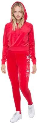 Juicy Couture Stretch Velour JCLA Stirrup Legging