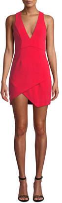 NBD V-Neck Asymmetric Mini Dress