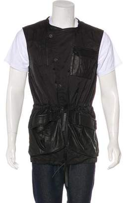 Skingraft Leather-Trimmed Utility Vest