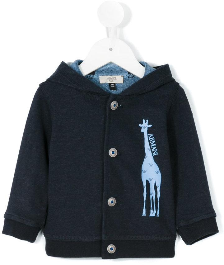 Armani JuniorArmani Junior giraffe print cardigan