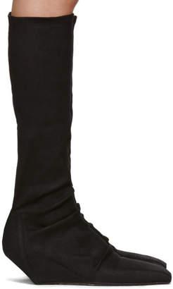 Rick Owens Black Sliver Sock Boots