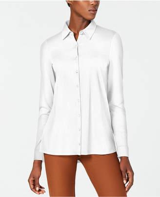 Eileen Fisher Button-Front Organic Cotton Shirt