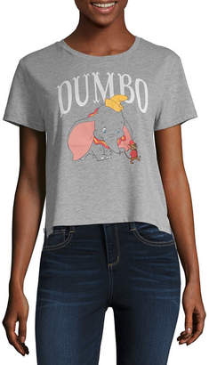 85bd68c10ae Disney Womens Crew Neck Short Sleeve Dumbo Graphic T-Shirt-Juniors