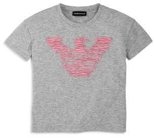 Armani Junior Girls' Ribbon-Logo Tee - Big Kid