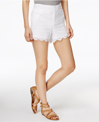 Maison Jules Cotton Eyelet-Trim Shorts, Only at Macy's $49.50 thestylecure.com