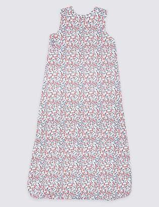 Marks and Spencer Organic Cotton 1.5 Tog Floral Sleeping Bag