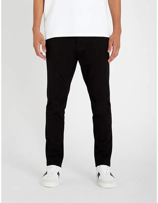 HUGO Cropped high-rise tapered woven trousers