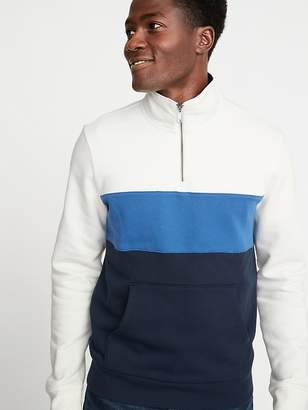 Old Navy Color-Blocked Mock-Neck 1/4-Zip Pullover for Men